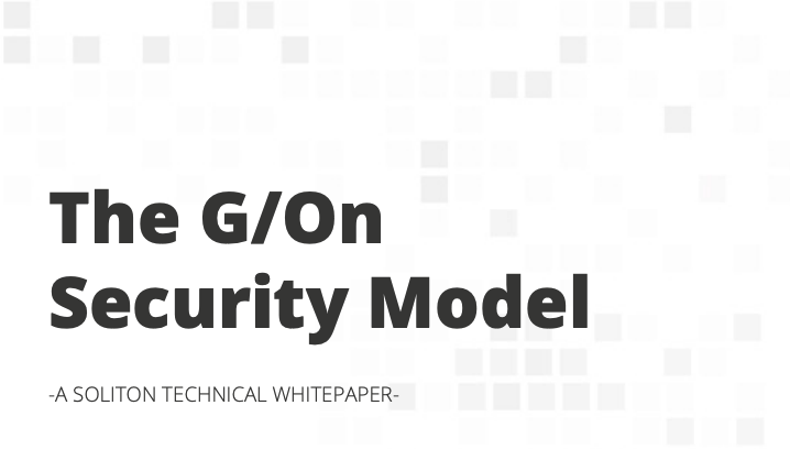 Technical paper on the G/On security model